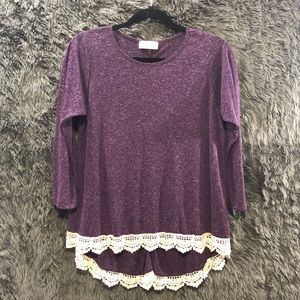 Altar'd State Blouse with Lace Detail